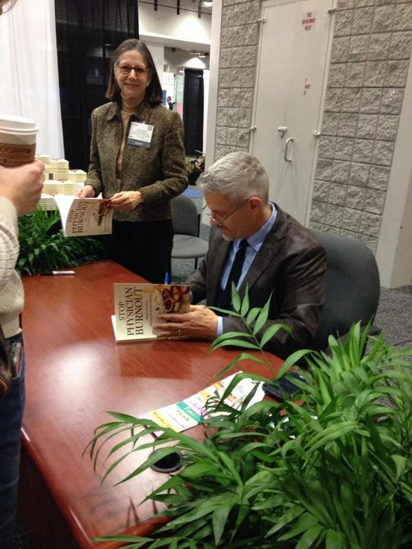 physician-burnout-book-signing-dike-drummond