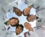 physician leadership patient flow team huddle physician coach 150x123